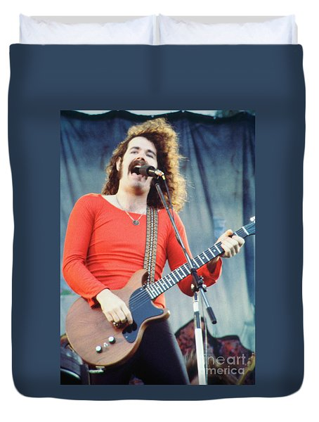 Brad Delp Of Boston-day On The Green 1 In Oakland Ca 5-6-79 1st Release Duvet Cover