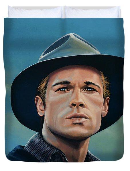 Brad Pitt Painting Duvet Cover