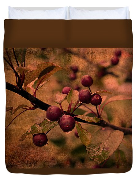 Bradford Pear Tree Seed Pods Duvet Cover