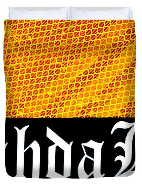 Brah Da Kine  Duvet Cover by Karon Melillo DeVega