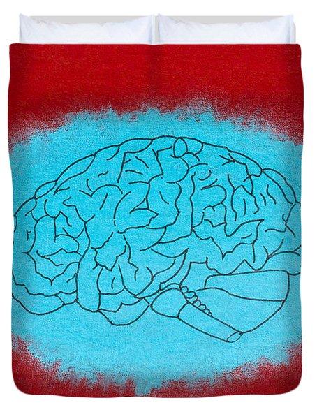 Brain Blue Duvet Cover