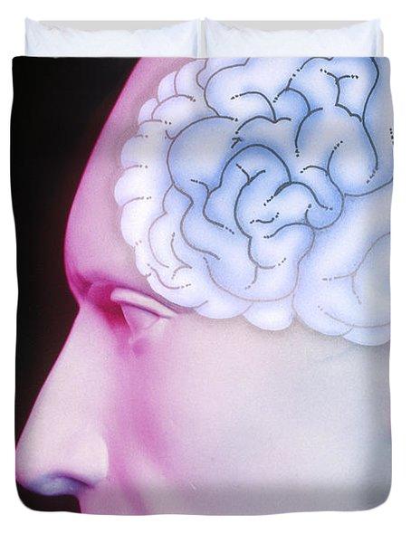 Brain Illustration Duvet Cover