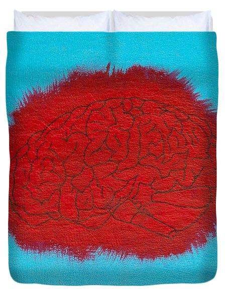 Brain Red Duvet Cover