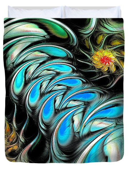 Brain Stimulation Duvet Cover by Anastasiya Malakhova