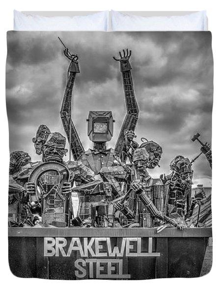Brakewell Steel Duvet Cover