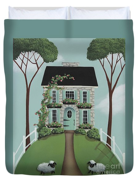 Brambleberry Cottage Duvet Cover by Catherine Holman