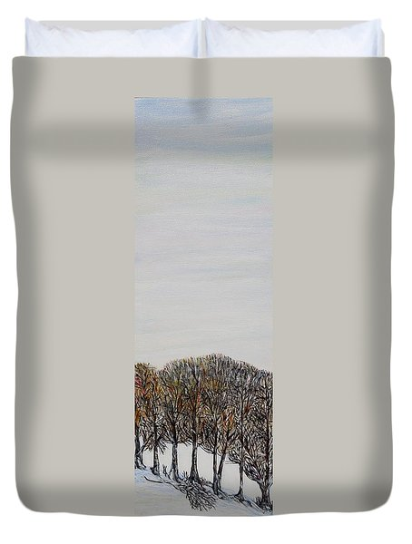 Duvet Cover featuring the painting Branch Broken by Marilyn  McNish