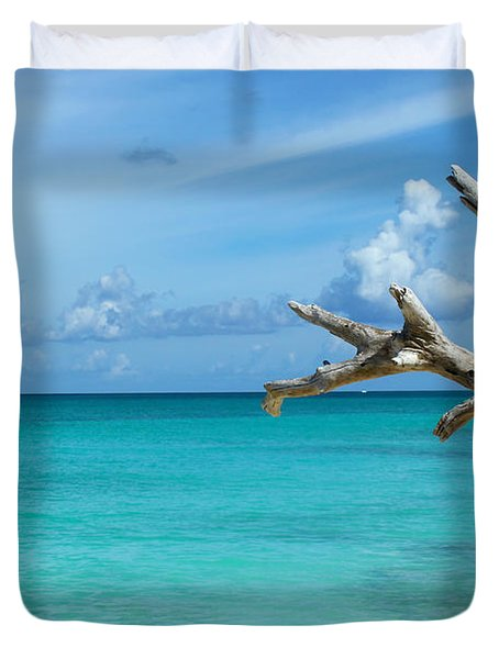 Branch Over The Caribbean Duvet Cover