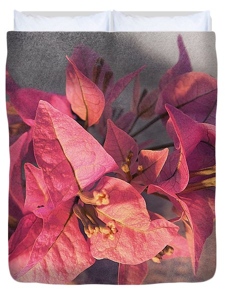 Branch With Bougainvillea Flowers  Duvet Cover by Sviatlana Kandybovich
