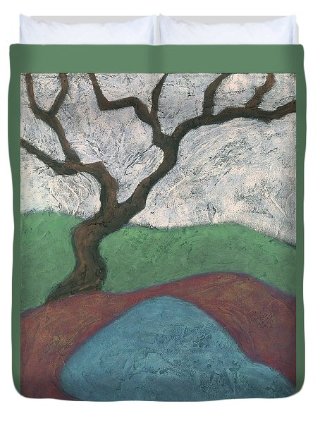 Branches And Water Duvet Cover