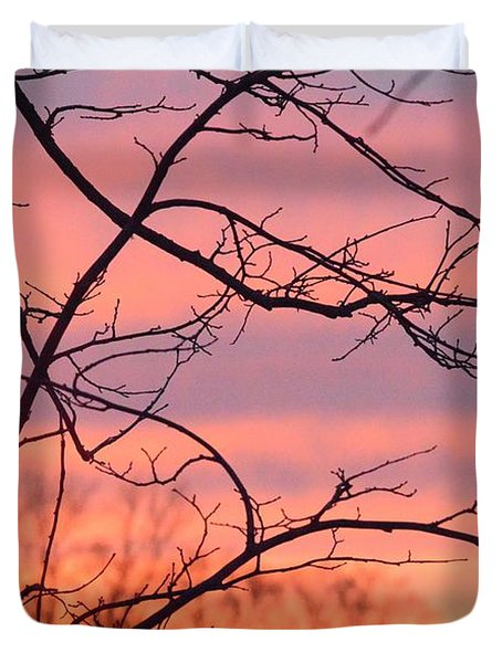 Duvet Cover featuring the photograph Branches Meet The Sky by Dacia Doroff
