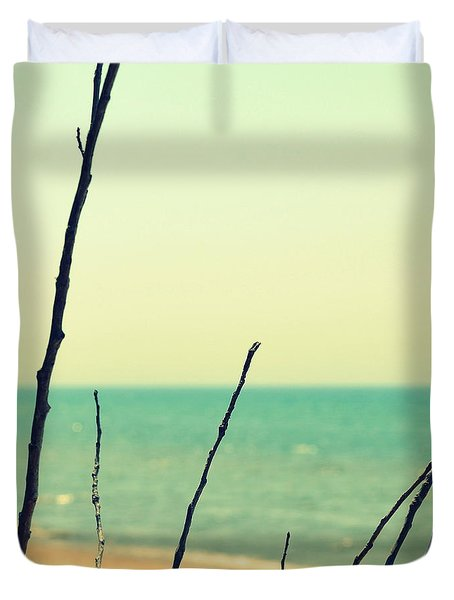 Branches On The Beach Duvet Cover by Michelle Calkins