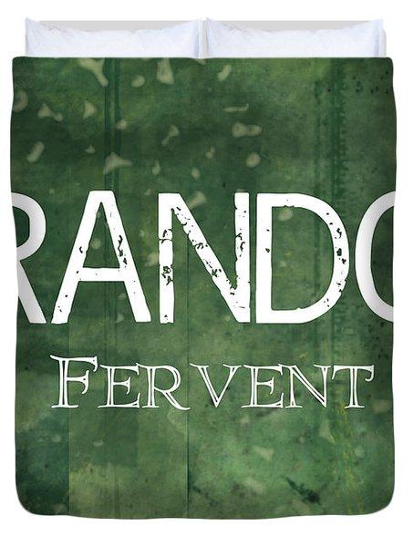 Brandon - Fervent Duvet Cover by Christopher Gaston