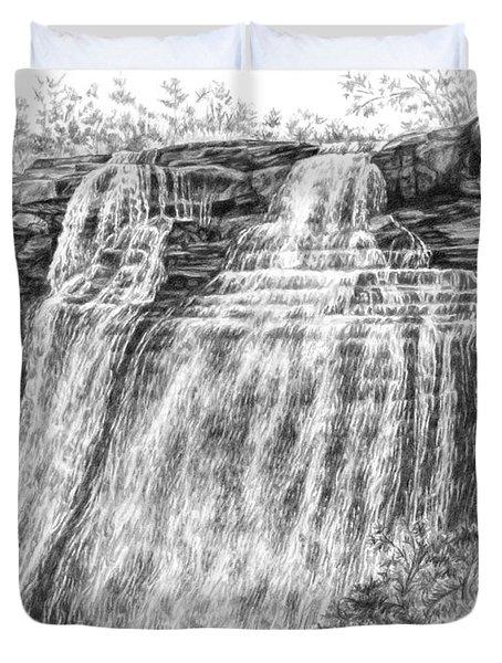 Brandywine Falls - Cuyahoga Valley National Park Duvet Cover