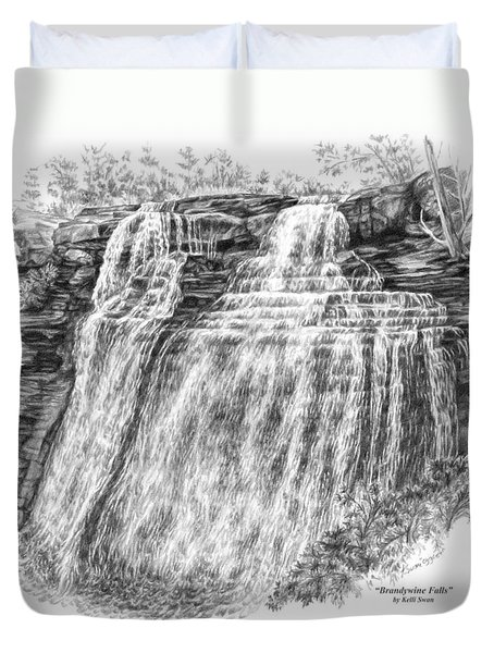Brandywine Falls - Cuyahoga Valley National Park Duvet Cover by Kelli Swan