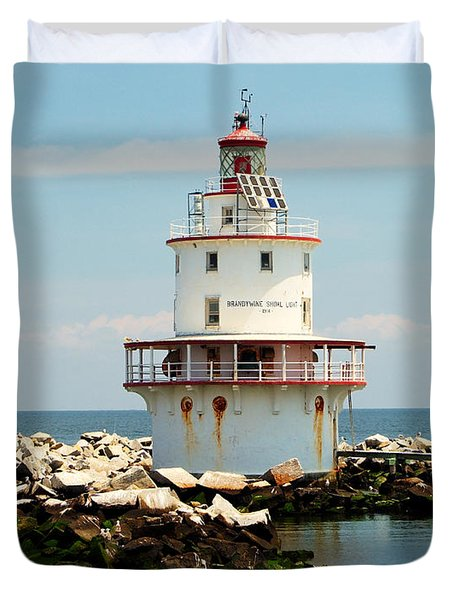 Brandywine Shoal  Lighthouse Duvet Cover