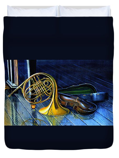 Brass And Strings Duvet Cover by Hanne Lore Koehler