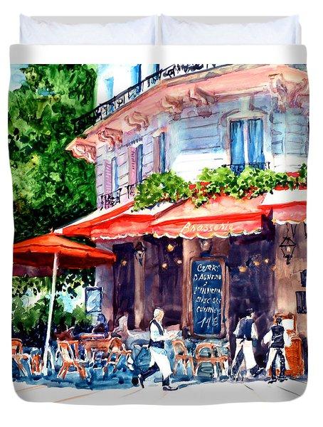 Brasserie Isle St. Louis Duvet Cover