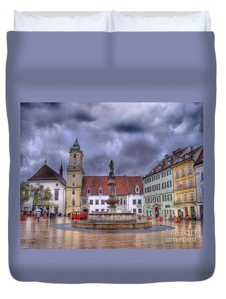 Bratislava Old Town Hall Duvet Cover