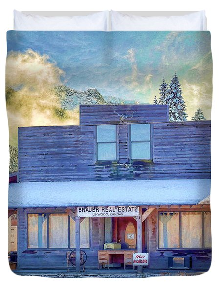 Brauer Real Estate Linwood Kansas Duvet Cover by Liane Wright