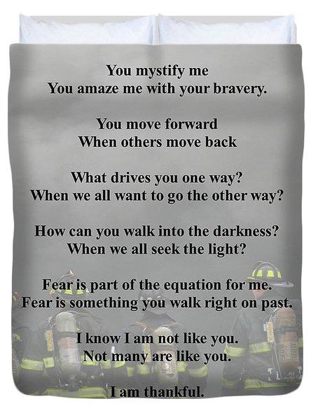 Brave Poem Duvet Cover