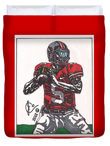 Braxton Miller 1 Duvet Cover by Jeremiah Colley
