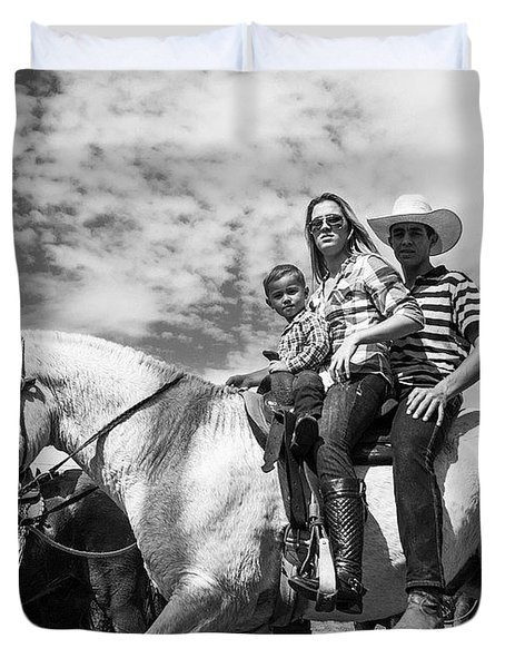 Brazilian Cowboys. A Family That Rides Duvet Cover