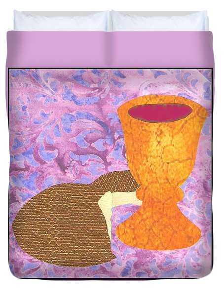 Bread And Cup Duvet Cover