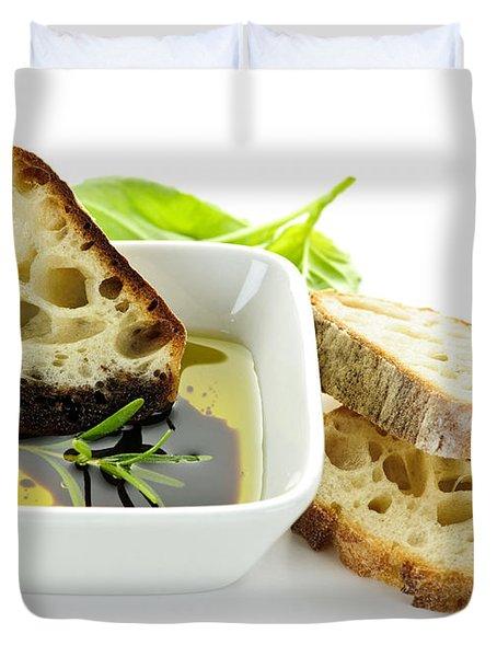 Bread Olive Oil And Vinegar Duvet Cover by Elena Elisseeva