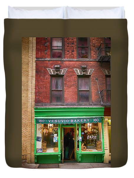 Bread Store New York City Duvet Cover by Garry Gay