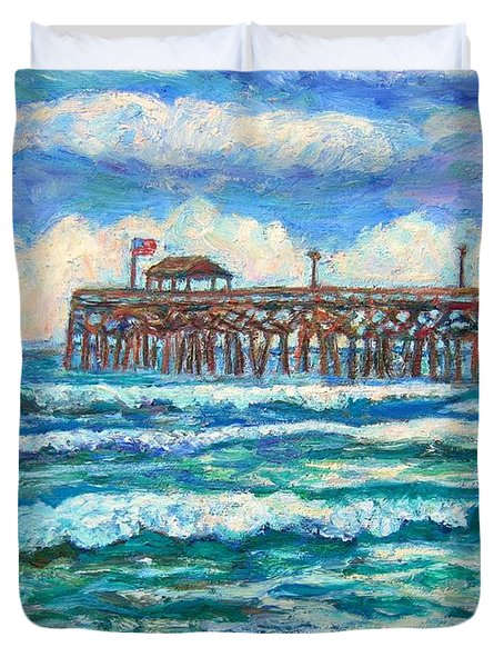 Breakers At Pawleys Island Duvet Cover