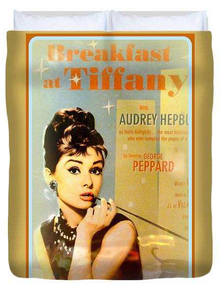 Breakfast At Tiffany Duvet Cover by The Creative Minds Art and Photography