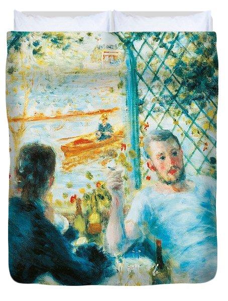 Breakfast By The River Duvet Cover by Pierre-Auguste Renoir