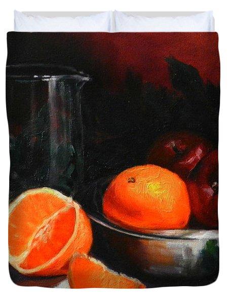 Breakfast Fruits Duvet Cover