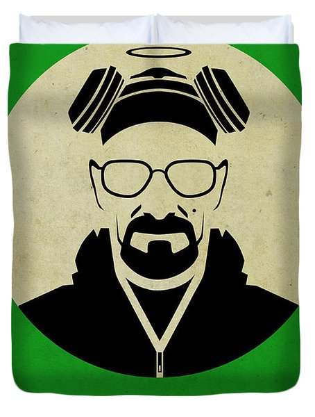 Breaking Bad Poster Duvet Cover by Naxart Studio