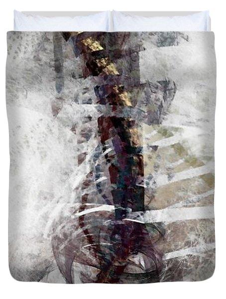 Duvet Cover featuring the digital art Breaking Bones by NirvanaBlues