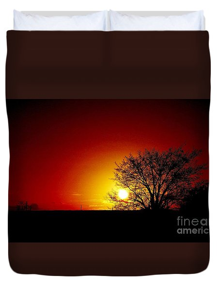 Breaking Dawn Duvet Cover by Amar Sheow