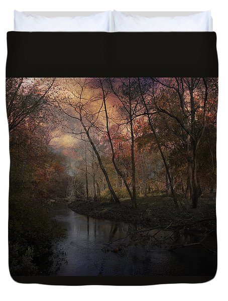 Breaking Of Dawns Early Light Duvet Cover by John Rivera