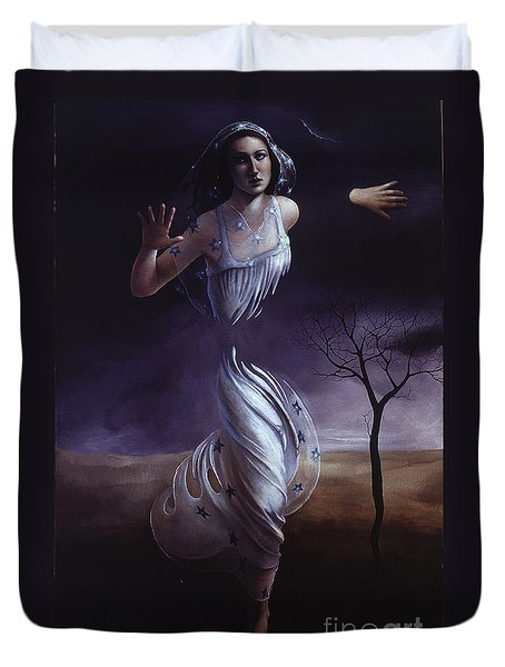 Breaking Through Duvet Cover by Jane Whiting Chrzanoska
