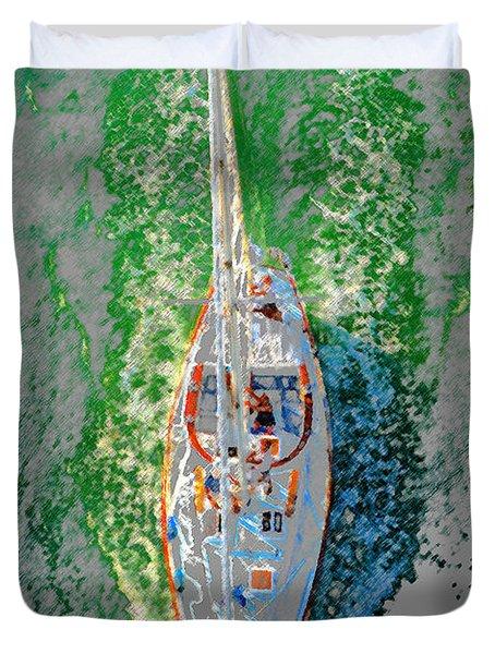 Breaking Water Duvet Cover by David Lee Thompson