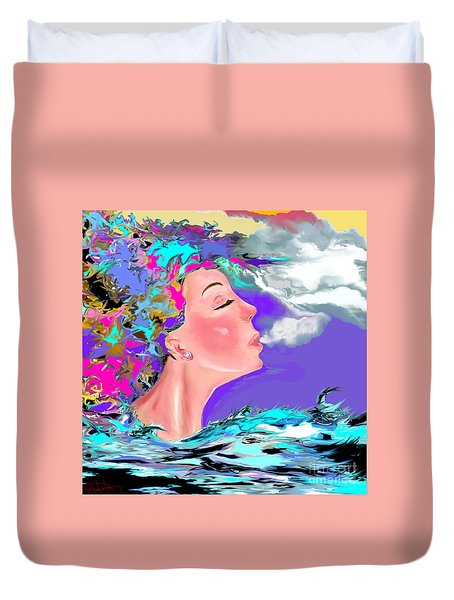 Just Breathe Duvet Cover by Lori  Lovetere