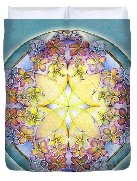 Breath Of Life Mandala Duvet Cover