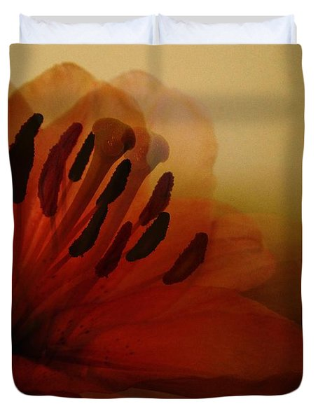 Breath Of The Lily Duvet Cover by Marianna Mills
