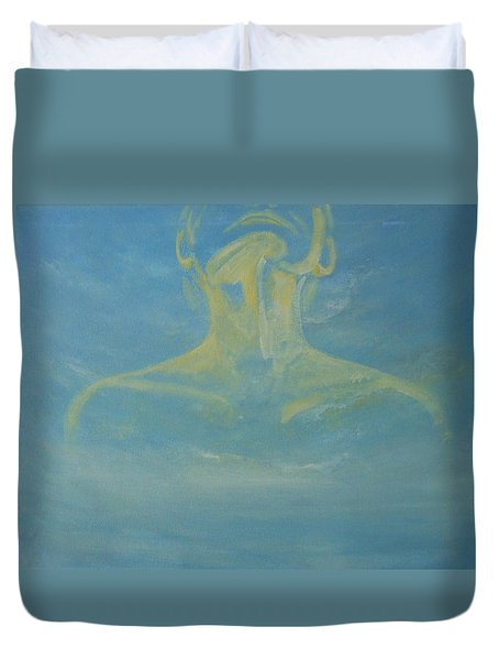 Duvet Cover featuring the painting Breathe by Jane  See
