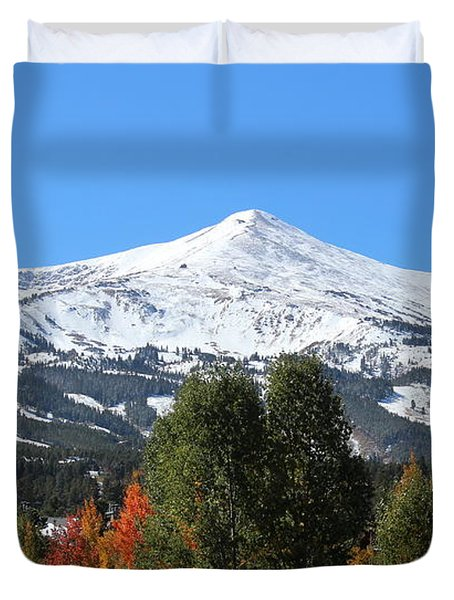 Breckenridge Colorado Duvet Cover