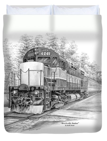 Brecksville Station - Cuyahoga Valley National Park Duvet Cover by Kelli Swan