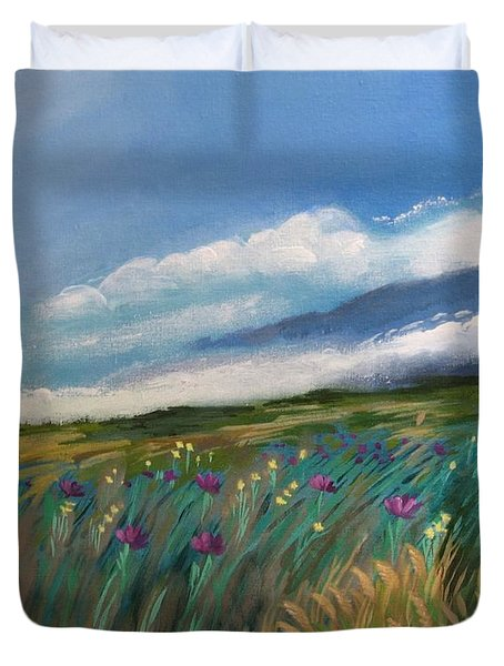 Breezy Day At Mauna Kea Duvet Cover