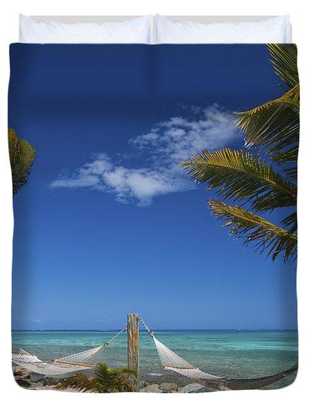 Breezy Island Life Duvet Cover by Adam Romanowicz