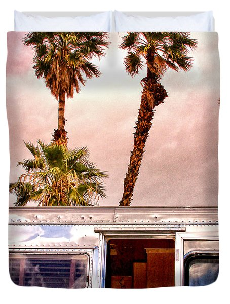 Breezy Palm Springs Duvet Cover by William Dey