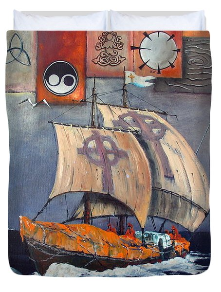 Brendan Voyage Duvet Cover